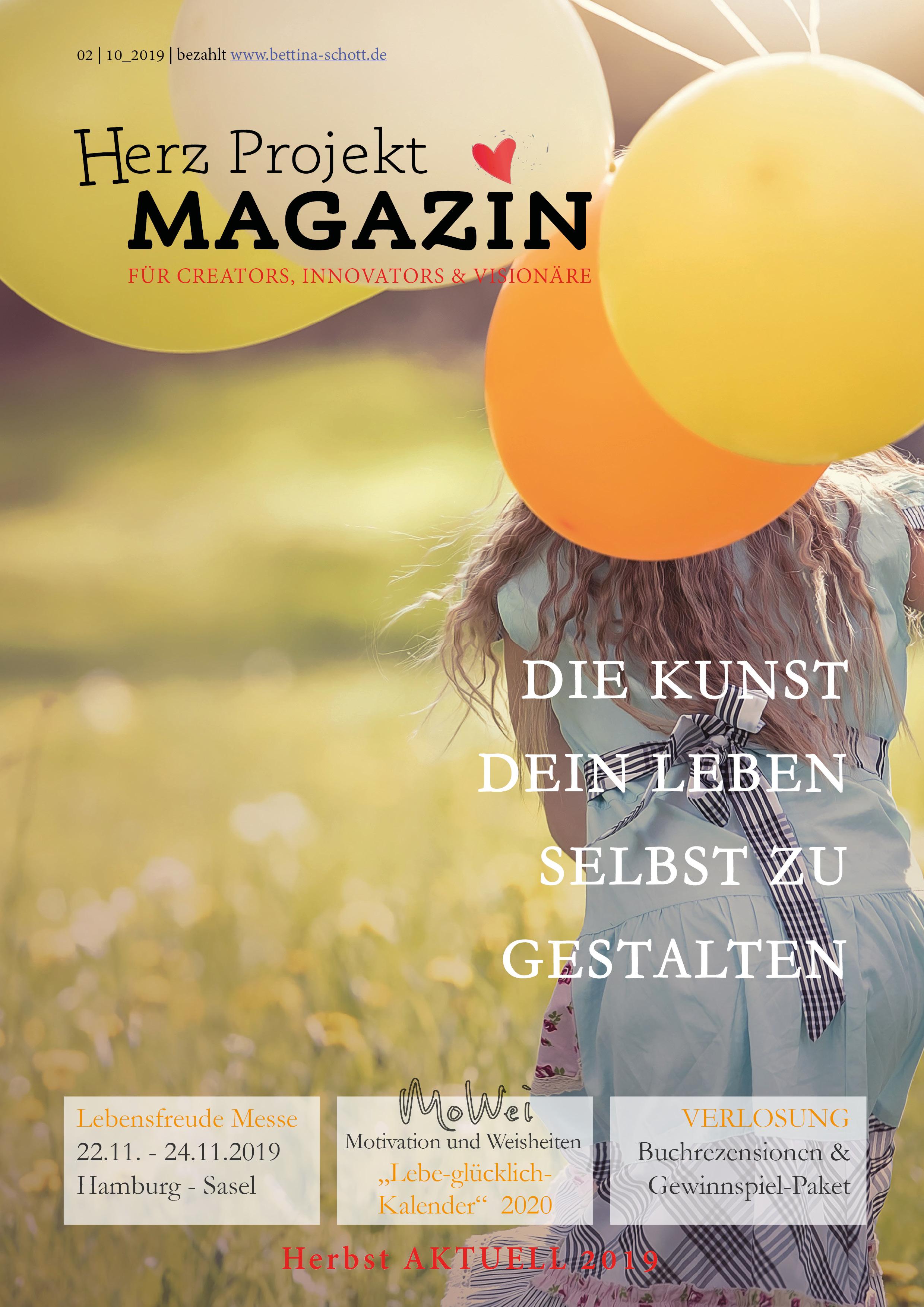 Herz Projekt Magazin Herbst 2019 Die Kunst dein Leben selbst zu gestalten
