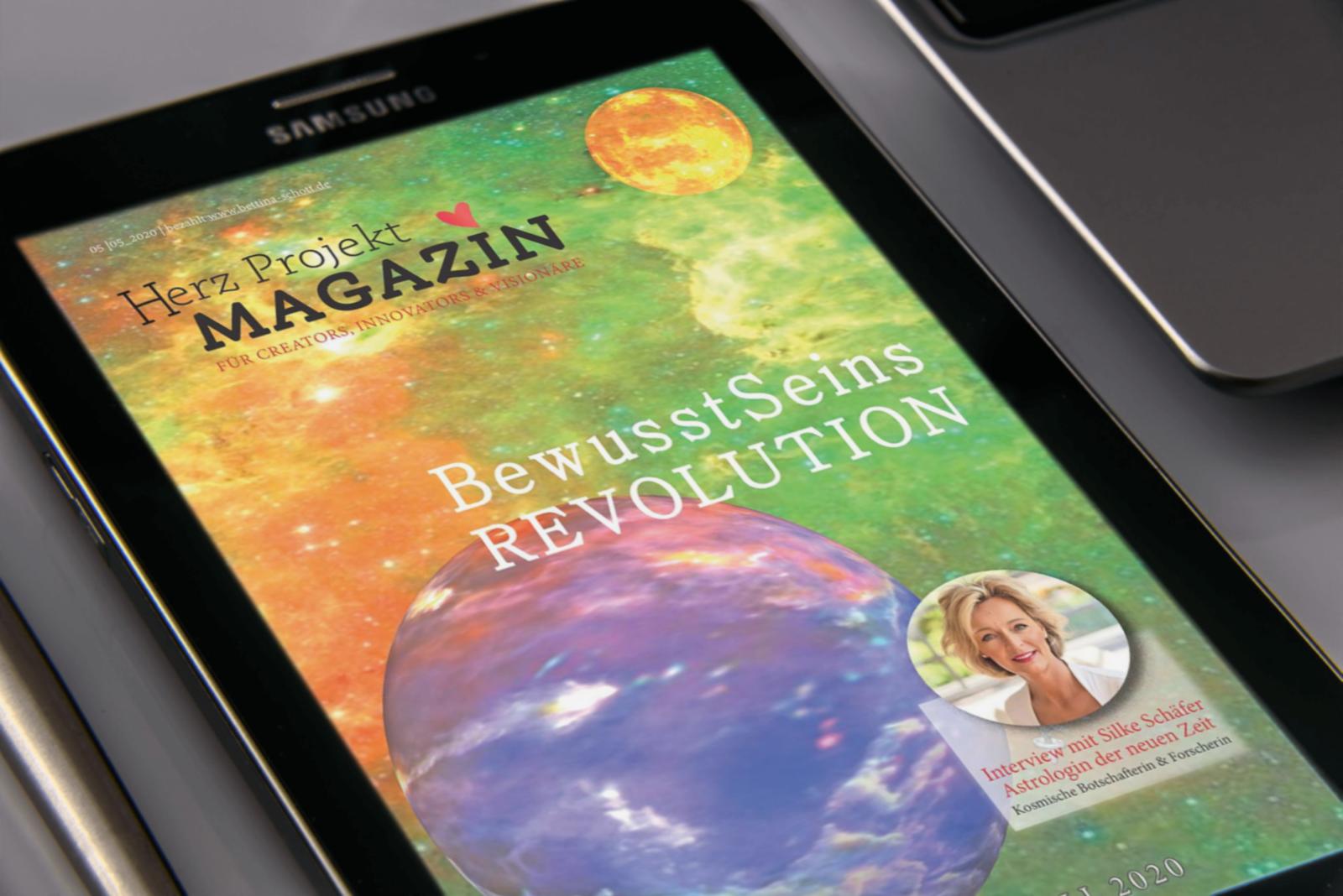 Herz ♥ Projekt Magazin 5. Ausgabe Titel Thema Bewusstseins Revolution 2020